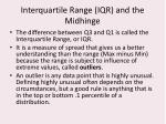 interquartile range iqr and the midhinge
