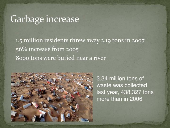 Garbage increase