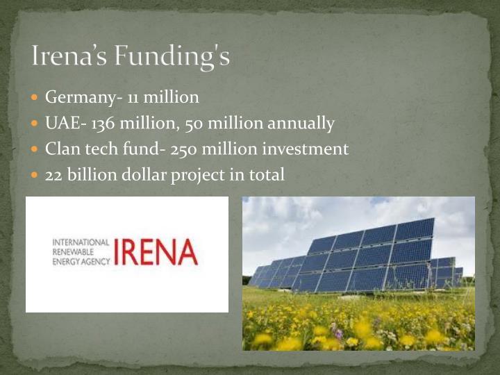 Irena's Funding's