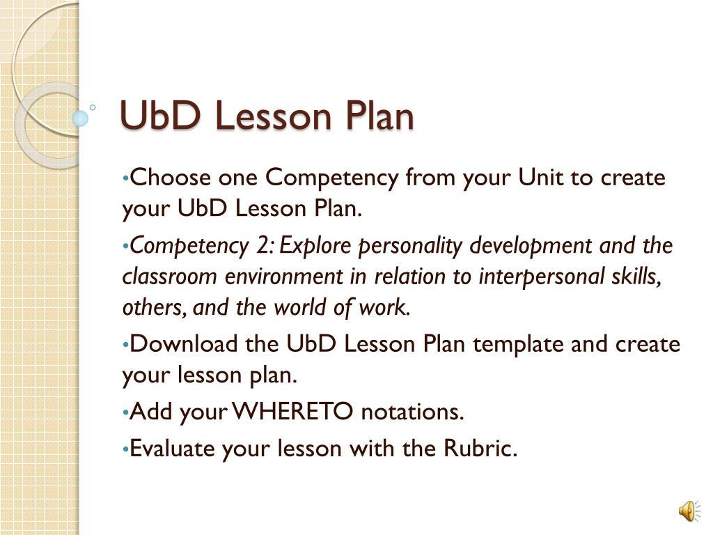 Ppt Ubd Lesson Plan Powerpoint Presentation Id2451040