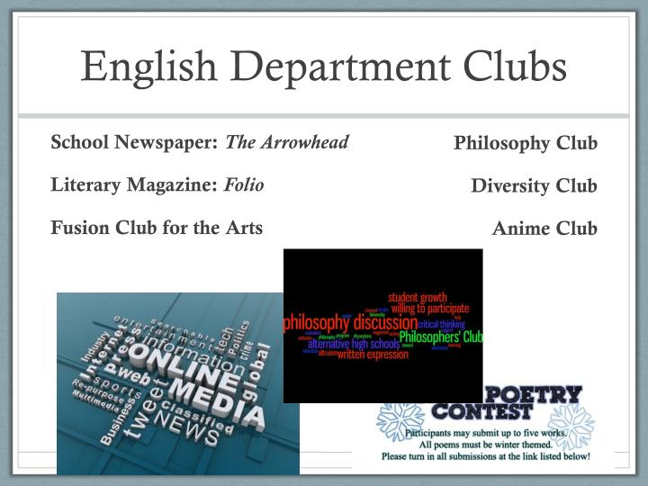 English Department Clubs