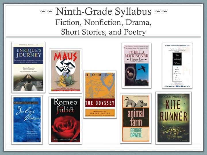 ~~ Ninth-Grade Syllabus ~~