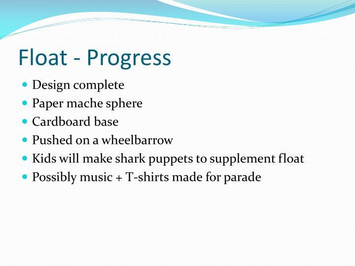 Float - Progress