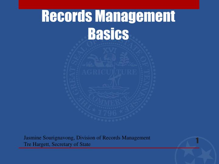 records management basics n.
