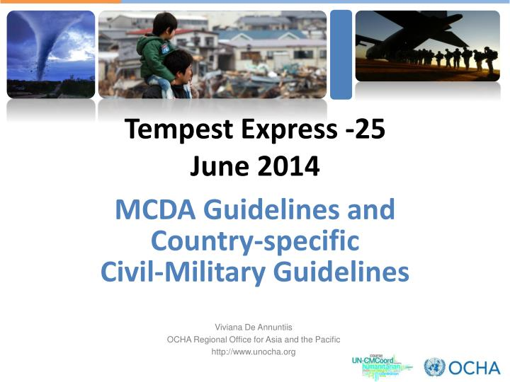 mcda guidelines and country specific civil military guidelines n.