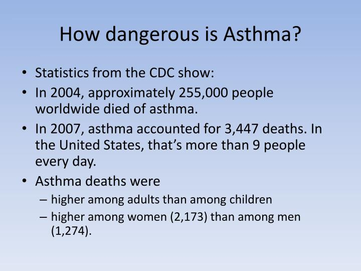 How dangerous is Asthma?