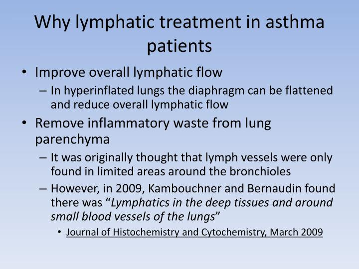 Why lymphatic treatment in asthma patients