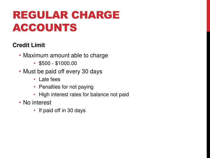 Regular Charge Accounts