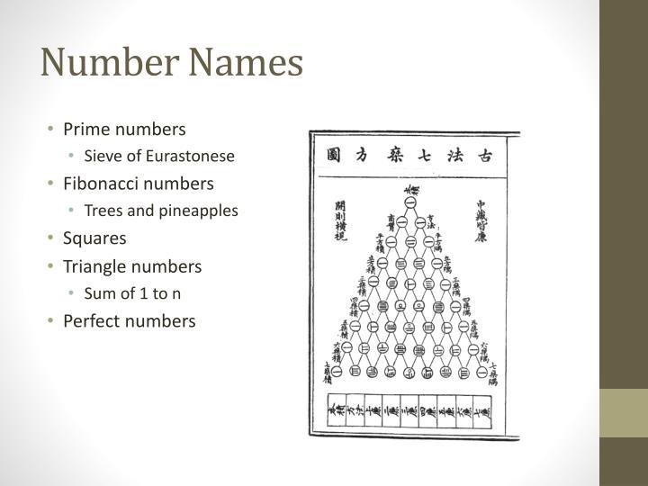 Number Names