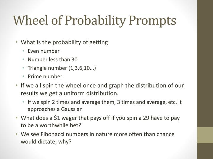 Wheel of Probability Prompts