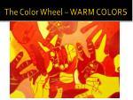 the color wheel warm colors1
