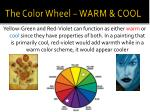 the color wheel warm cool