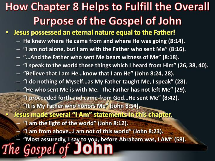 How Chapter 8 Helps to Fulfill the Overall Purpose of the Gospel of John