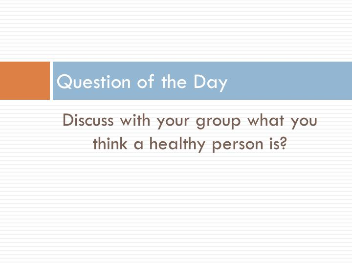 question of the day n.