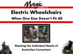 electric wheelchairs when one size doesn t fit all