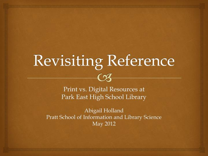 revisiting reference n.