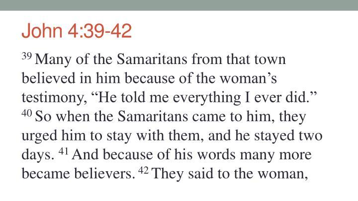 John 4:39-42