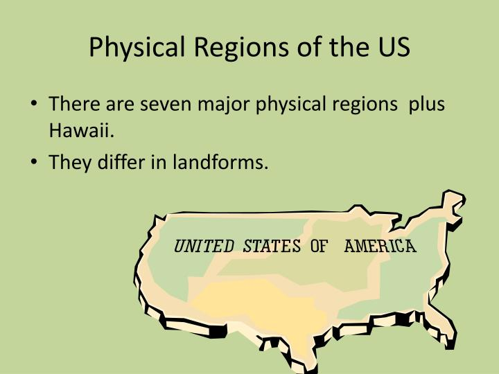 Physical regions of the us