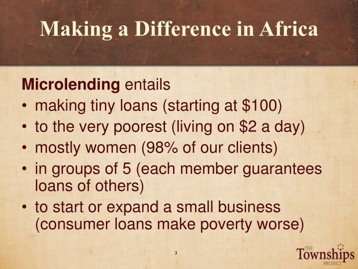 Making a difference in africa2