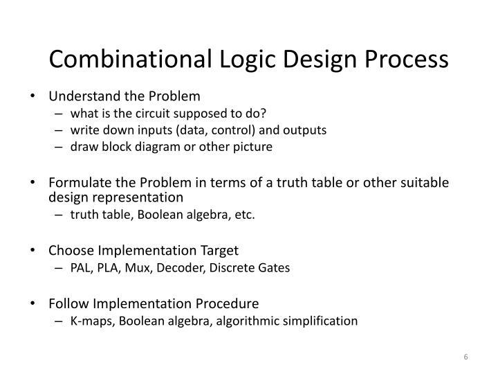 Combinational Logic Design Process