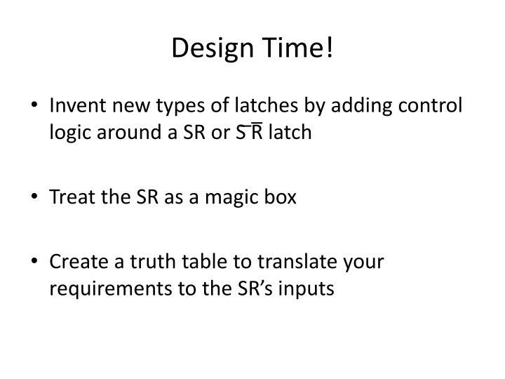 Design Time!