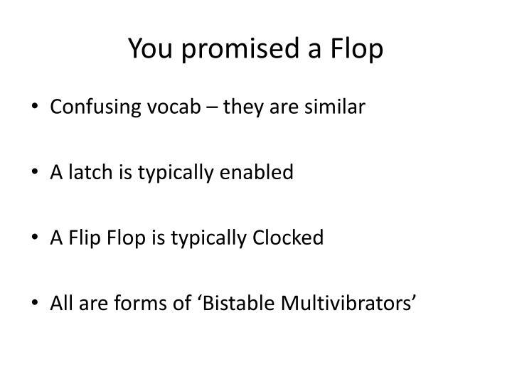 You promised a Flop