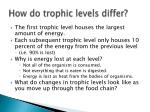 how do trophic levels differ