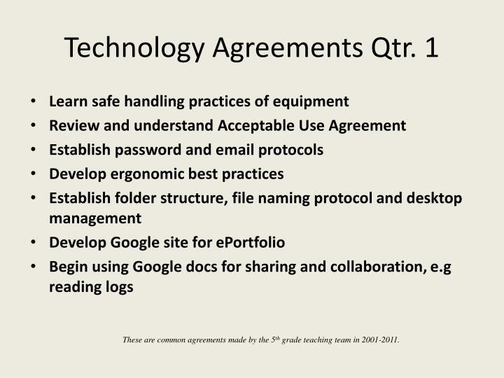 Technology Agreements Qtr. 1