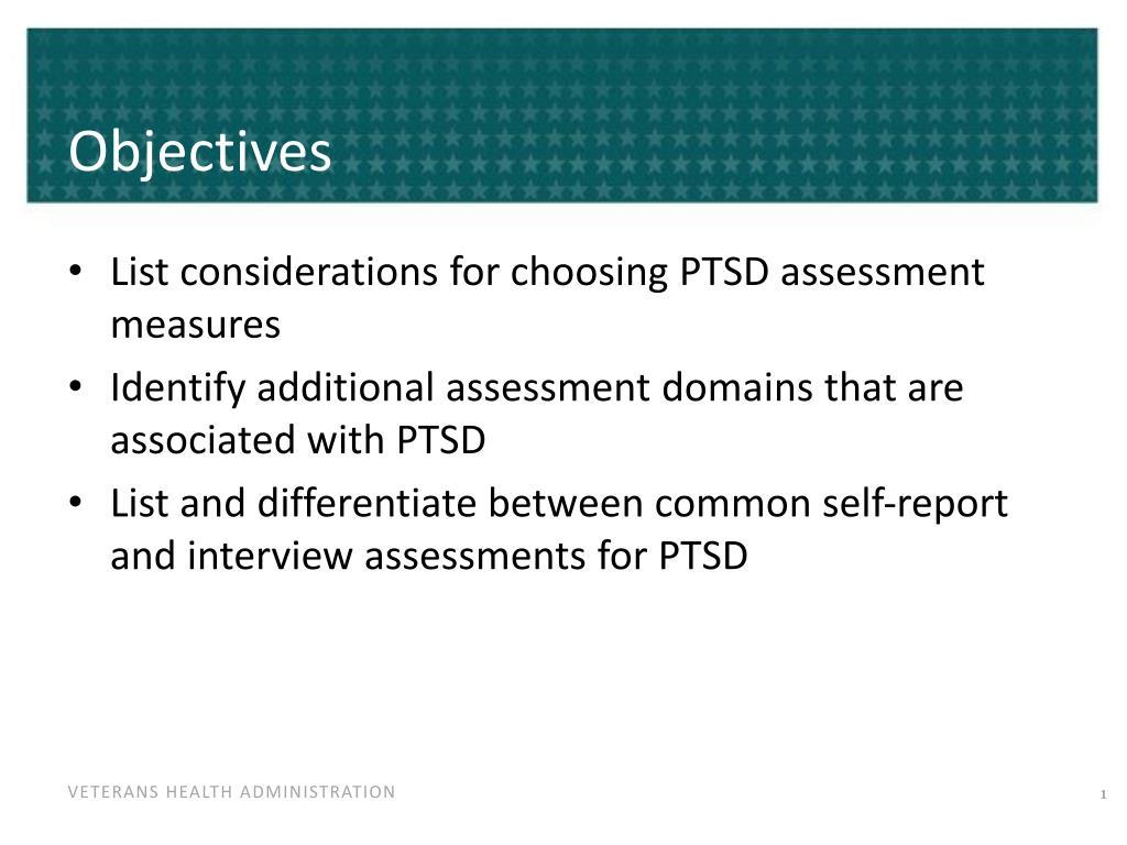 PPT - Posttraumatic Stress Disorder (PTSD) Assessment ...