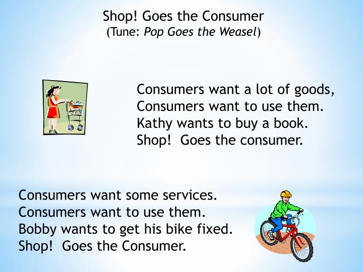 Shop! Goes the Consumer