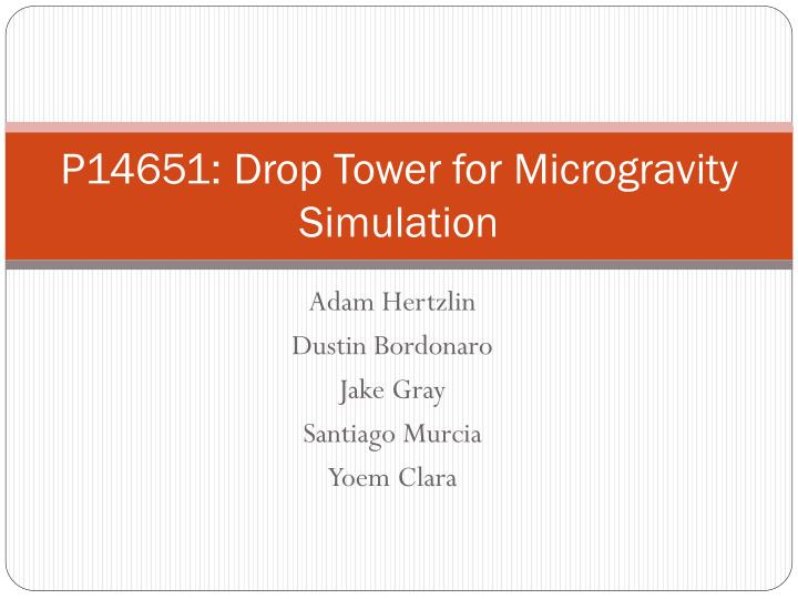 p14651 drop tower for microgravity simulation n.