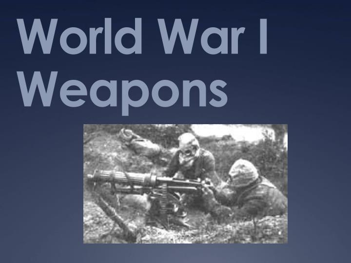 world war i weapons n.