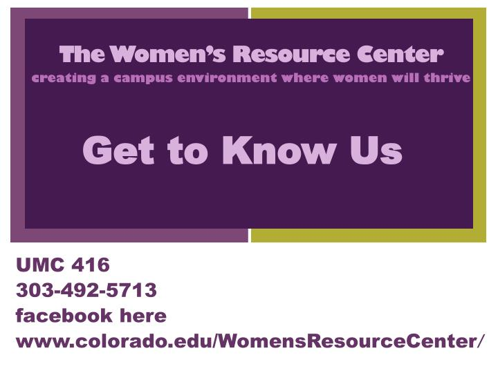 the women s resource center n.