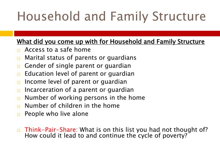 Household and Family Structure