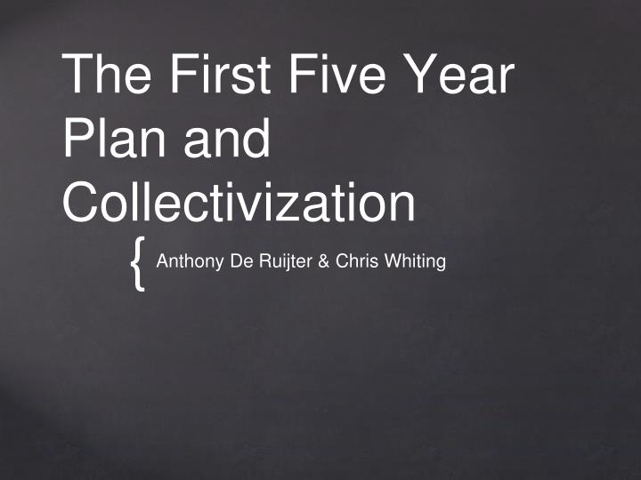 the first five year plan and collectivization n.