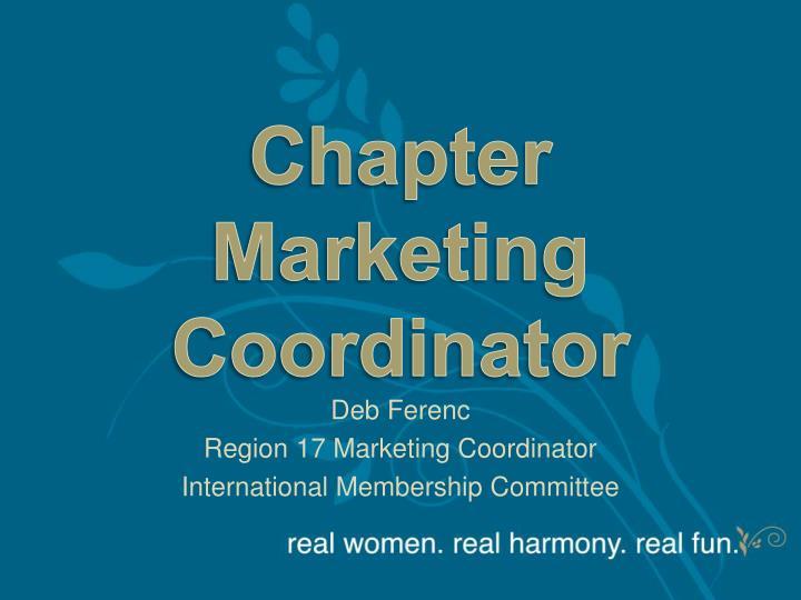 Chapter marketing coordinator
