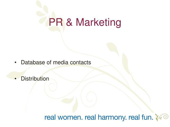 PR & Marketing