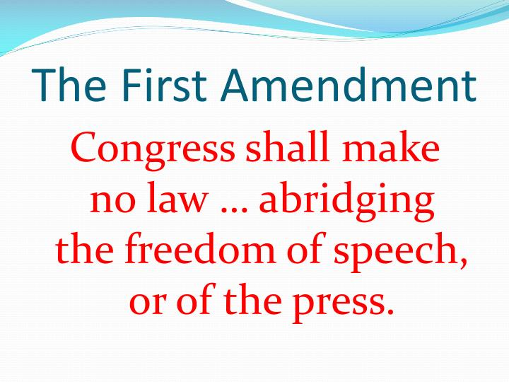 the first amendment n.