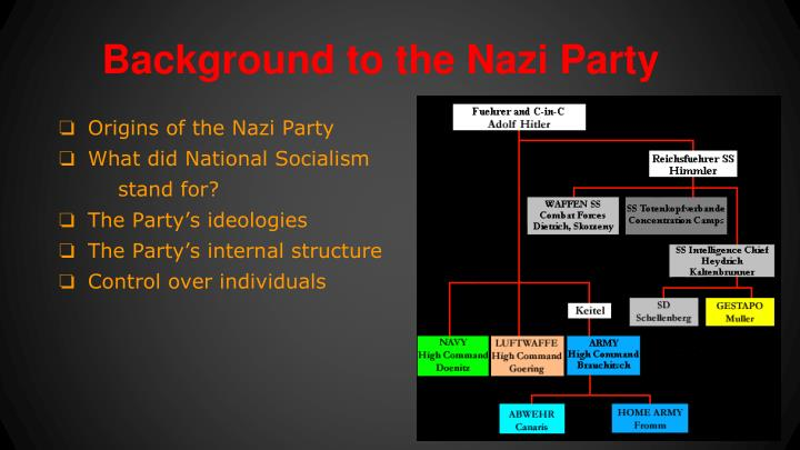 Background to the Nazi Party