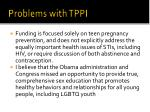 problems with tppi