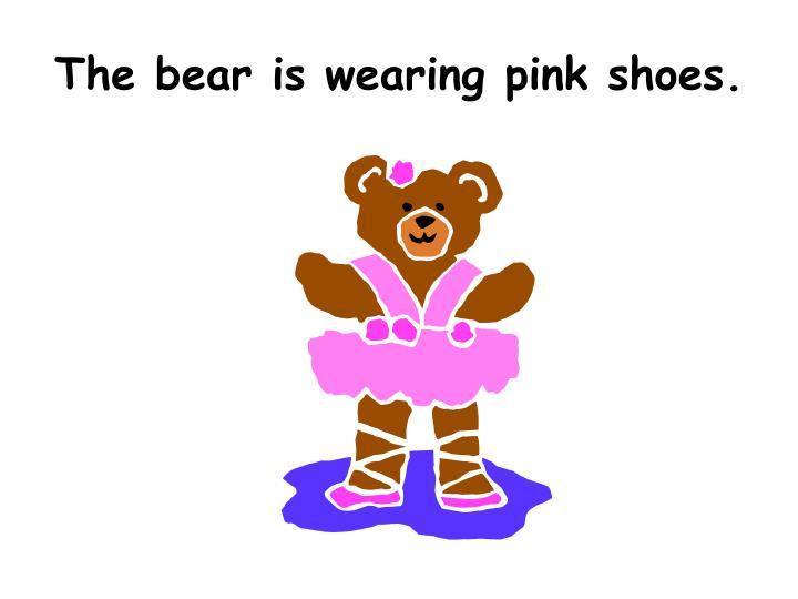 The bear is wearing