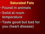 saturated fats2