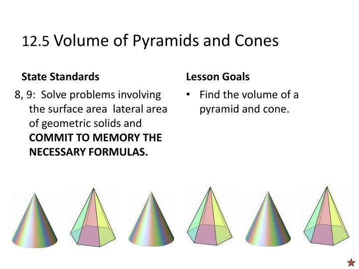 12 5 volume of pyramids and cones n.