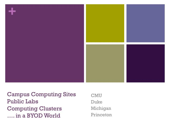 campus computing sites public labs computing clusters in a byod world n.