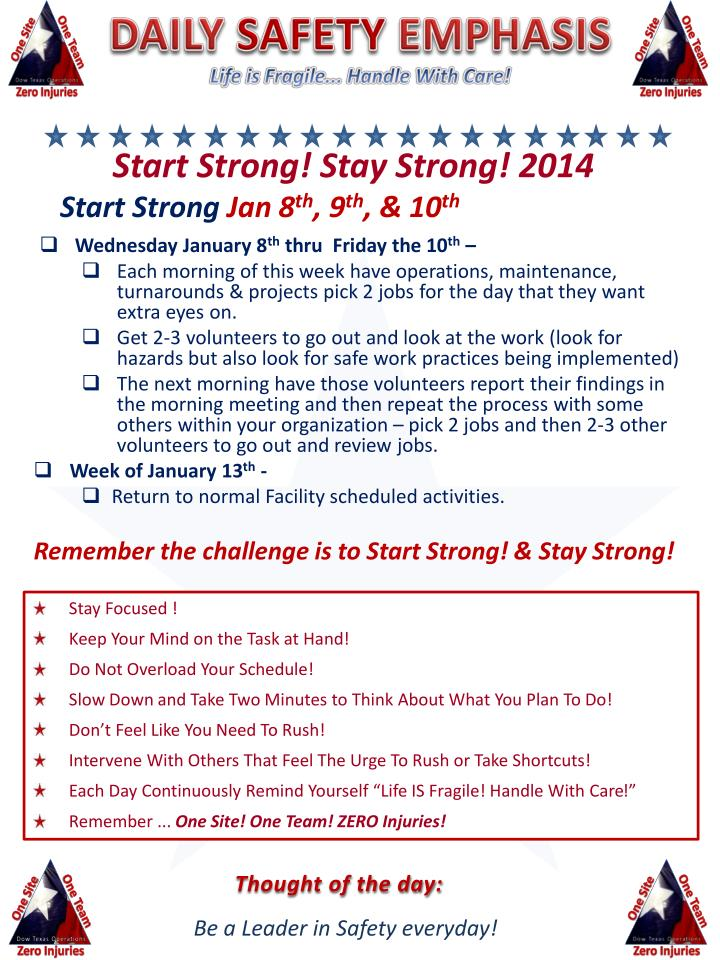 start strong stay strong 2014 start strong jan 8 th 9 th 10 th n.