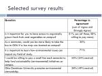 selected survey results