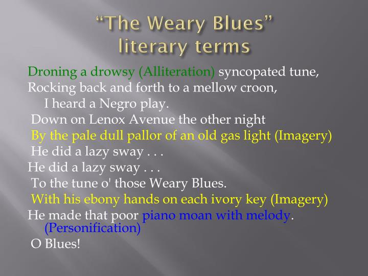 the weary blues by langston hughes theme