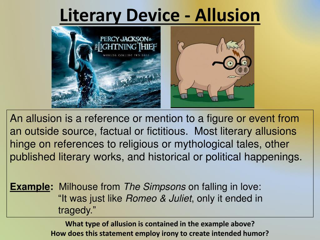 Ppt Literary Device Allusion Powerpoint Presentation Id2454253