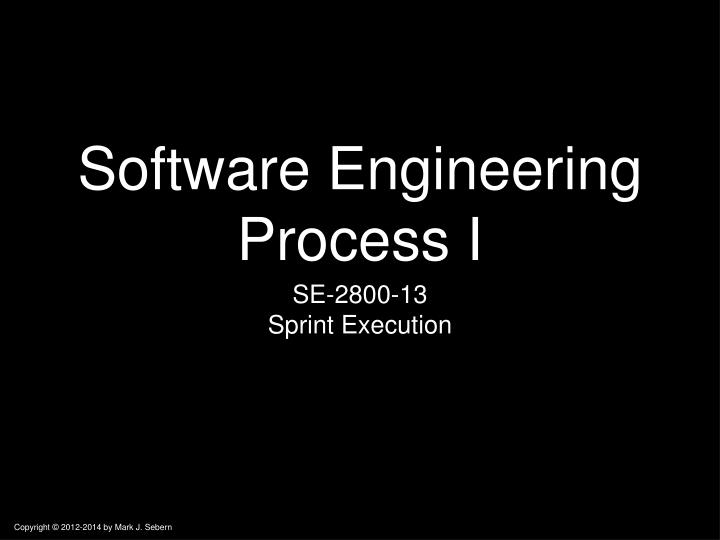 software engineering process i n.