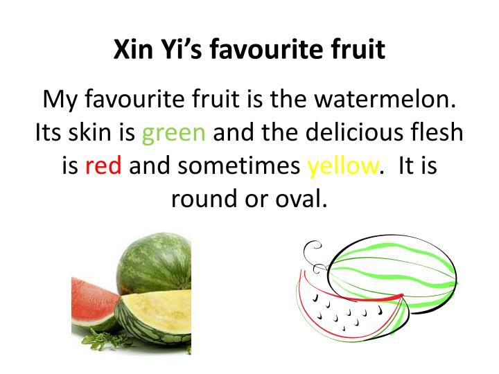 xin yi s favourite fruit n.